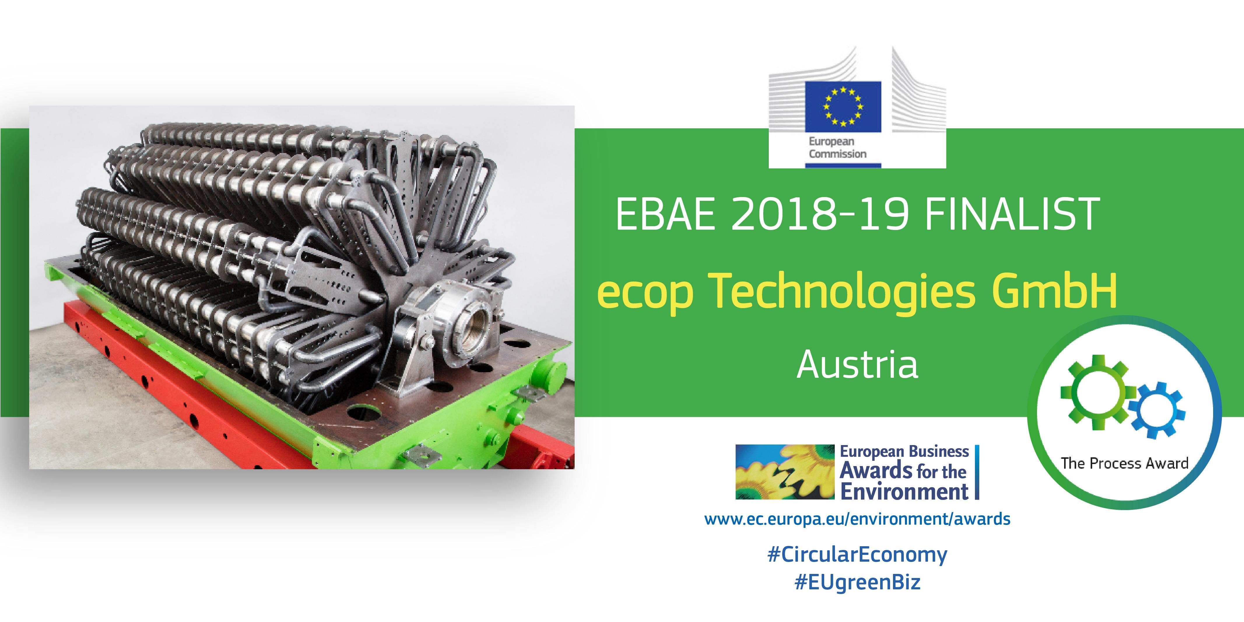 ecop auf Shortlist des Europäischen Umweltpreises